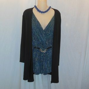 Jaclyn Smith Layered Look Top Size 3X